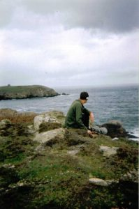 recording sound in Tory Island, Donegal, Ireland